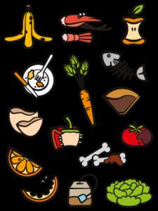 Déchets alimentaires acceptés dans le bac